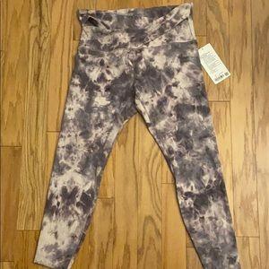 NWT Purple Tie-Dye Align CrissCross Waist Leggings